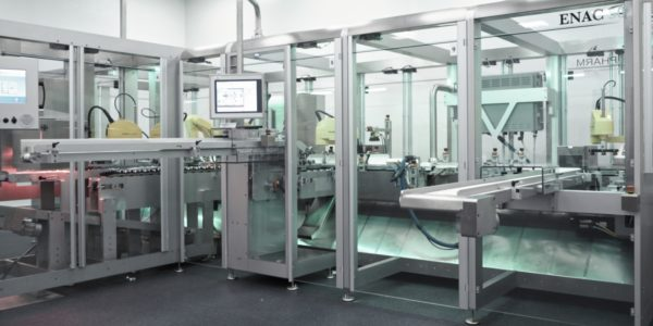 Etuyeuse encartonneuse top loading coffrets ENAC50